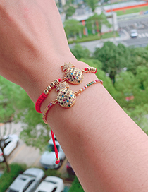 Fashion Red Copper Inlaid Zircon Rope Pineapple Bracelet