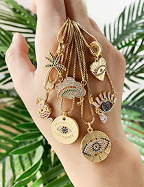 Fashion Gold Copper Inlaid Zircon Coconut Necklace