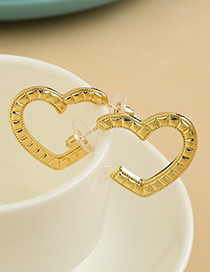 Fashion Gold Color Alloy Hollow Heart Earrings