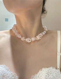 Fashion Pink Acrylic Love Necklace