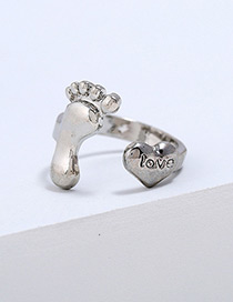 Lovely Silver Color Letter Love Pattern Decorated Ring