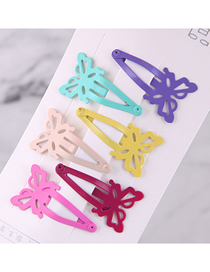Fashion Color Children's Butterfly Hairpin