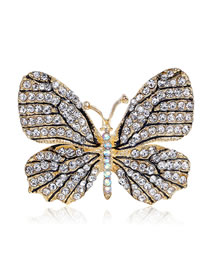 Fashion White Butterfly Shape Decorated Brooch