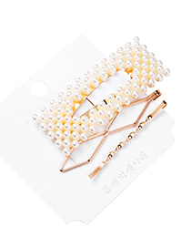 Fashion Gold Color Imitation Pearl Hairpin Set