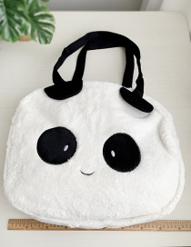 Fashion White Fabric Panda Shoulder Bag