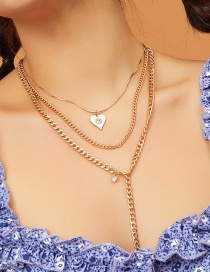 Fashion Golden Chain Love Multi-layer Necklace