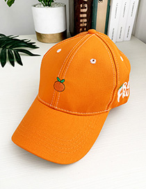 Fashion Orange Canvas Adult Peaked Cap