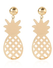 Fashion Gold Color Alloy Pineapple Fruit Earrings